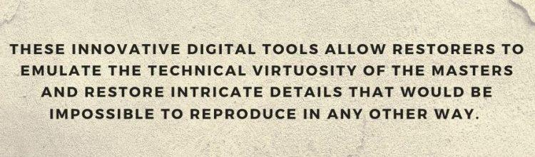 using digital tools to restore