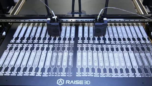 connectors being printed for test models