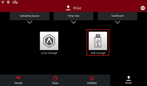 Click on USB Storage