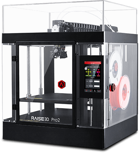 the Pro2 Dual Extruder 3D Printer by Raise3D