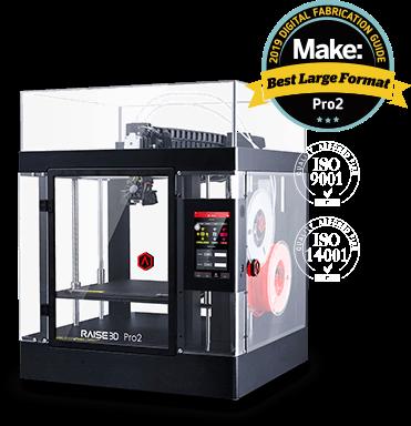 a dual extruder 3D Printer by Raise3D