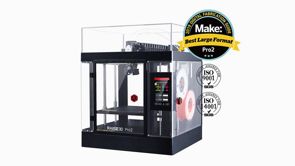 The Pro 2 from Raise3D is a Dual Extruder Printer with ISO Certifications