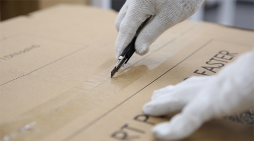 Cutting Open Box