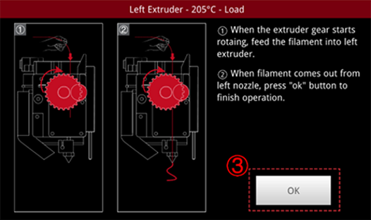 Finalizing Left Extruder Screen