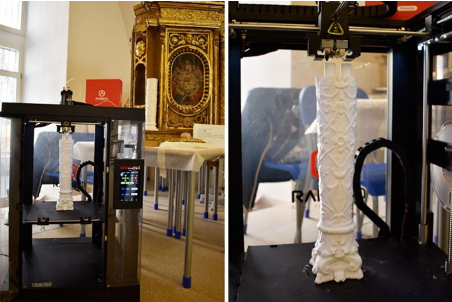 Italian Cultural Heritage Restoration Agency (ISCR) used 3D printing to make cultural relics