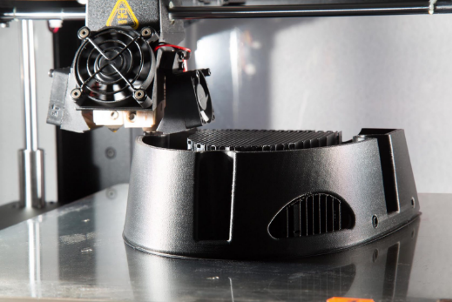 The printing process of Raise3D's 3D printer