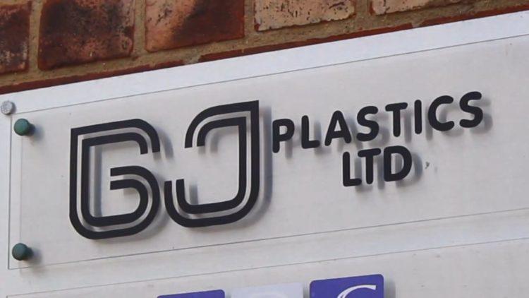 GJ Plastics LTD sign
