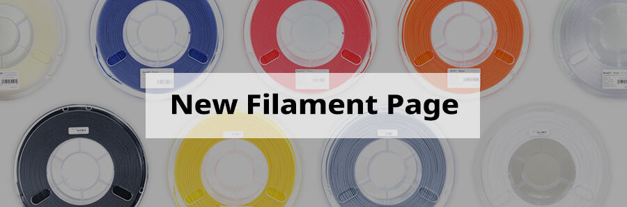 A New Filament Page to Help Users in Their Printing Process