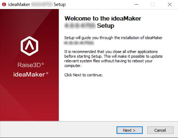 Enter the ideaMaker installer