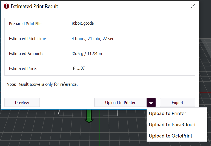 Estimated Print Result
