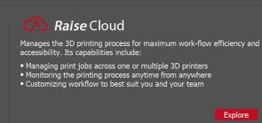 RaiseCloud is a cloud platform for monitoring and managing the multiple printing process