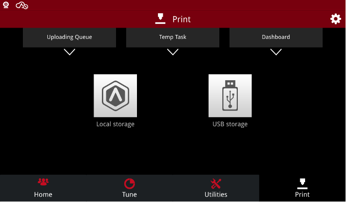 Select USB storage to find print files