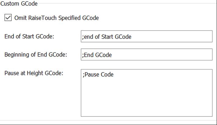 Set up Custom G-Code