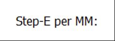 Step-E per MM